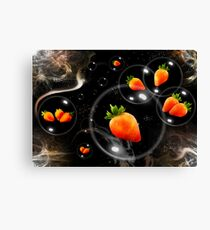 space strawberries  Canvas Print