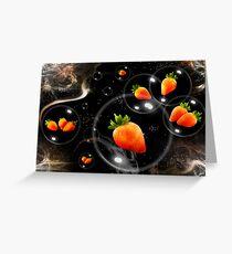 space strawberries  Greeting Card