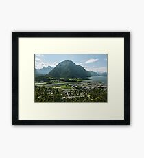 Panoramic view of Andalsnes Leirplass mountain in Norway Framed Print