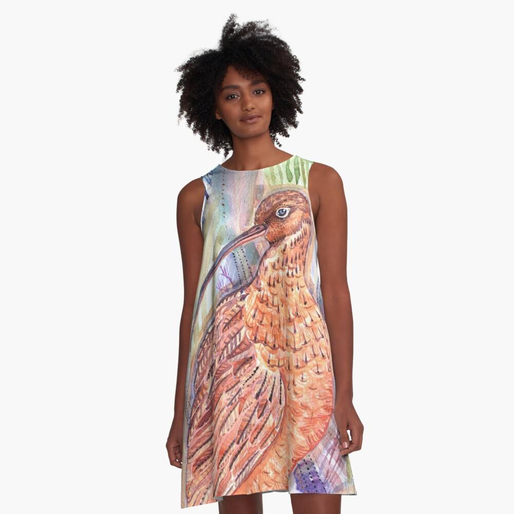 The Hidden Curlew A-Line Dress Front