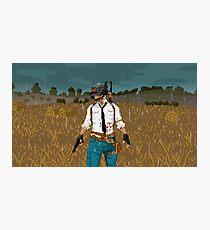 Pixel Unknowns: 8-Bit Battlegrounds  Photographic Print