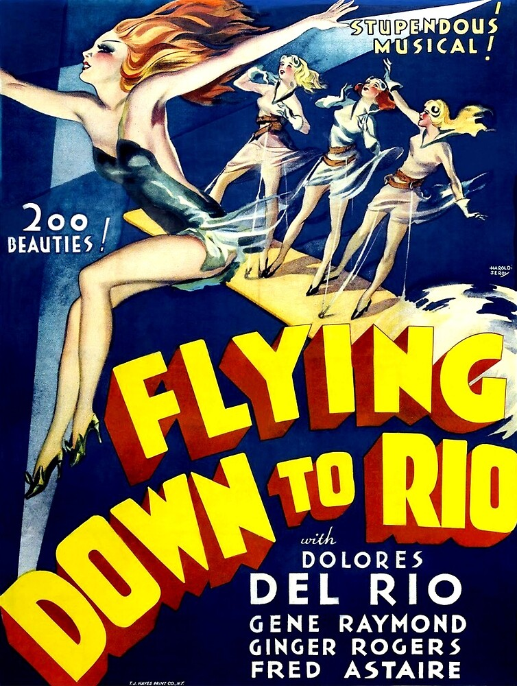 Flying down to Rio, musical, vintage poster by AmorOmniaVincit