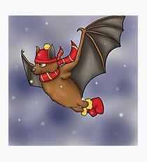 Gryffindor Inspired Winter Bat Photographic Print