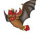 Gryffindor Inspired Winter Bat (No Background) by jambammer