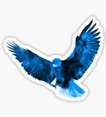 Bald Eagle - Low Poly (Blue) Sticker