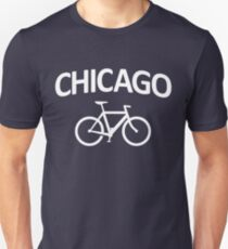 I Bike Chicago - Fixie Bike Design Unisex T-Shirt