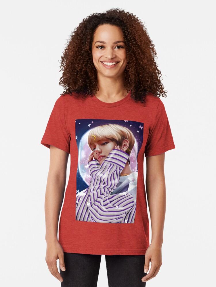 "Alternate view of ""Moon Child"" BTS V Tri-blend T-Shirt"