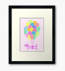 Pup Pup and Away! (Pink) Framed Print