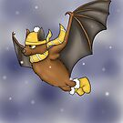 Hufflepuff Inspired Winter Bat by jambammer
