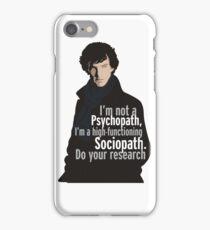 Sherlock - Psychopath/ Sociopath iPhone Case/Skin