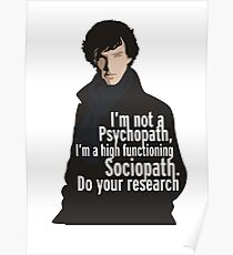 Sherlock - Psychopath / Soziopath Poster