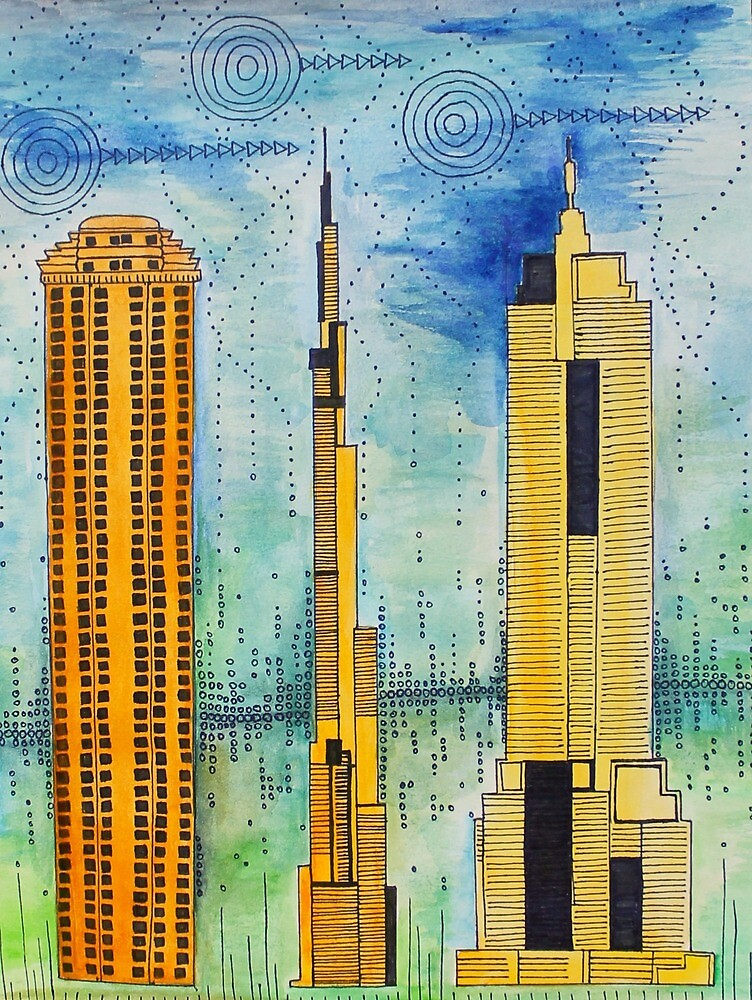 Cityscape Watercolor  by sophiesnider