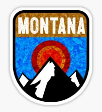 MONTANA MOUNTAINS OUTDOORS NATURE SKIING YELLOWSTONE GLACIER BIG SKY BOZEMAN HIKING Sticker