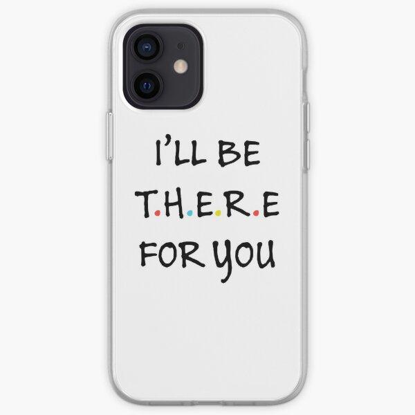 Je serai là pour toi (noir / couleur) Coque souple iPhone