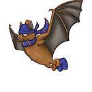 Ravenclaw Inspired Winter Bat (No Background) by jambammer