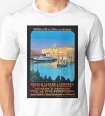 French riviera, France, railway, travel poster T-Shirt