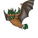 Slytherin Inspired Winter Bat (No background) by jambammer