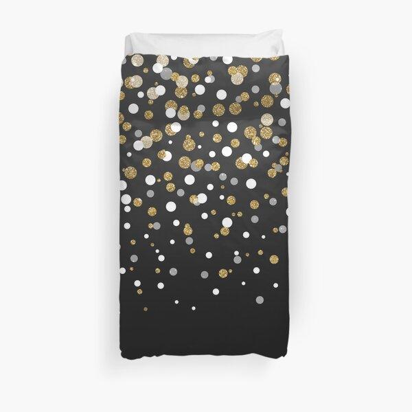 Pretty modern girly faux gold glitter confetti ombre illustration Duvet Cover