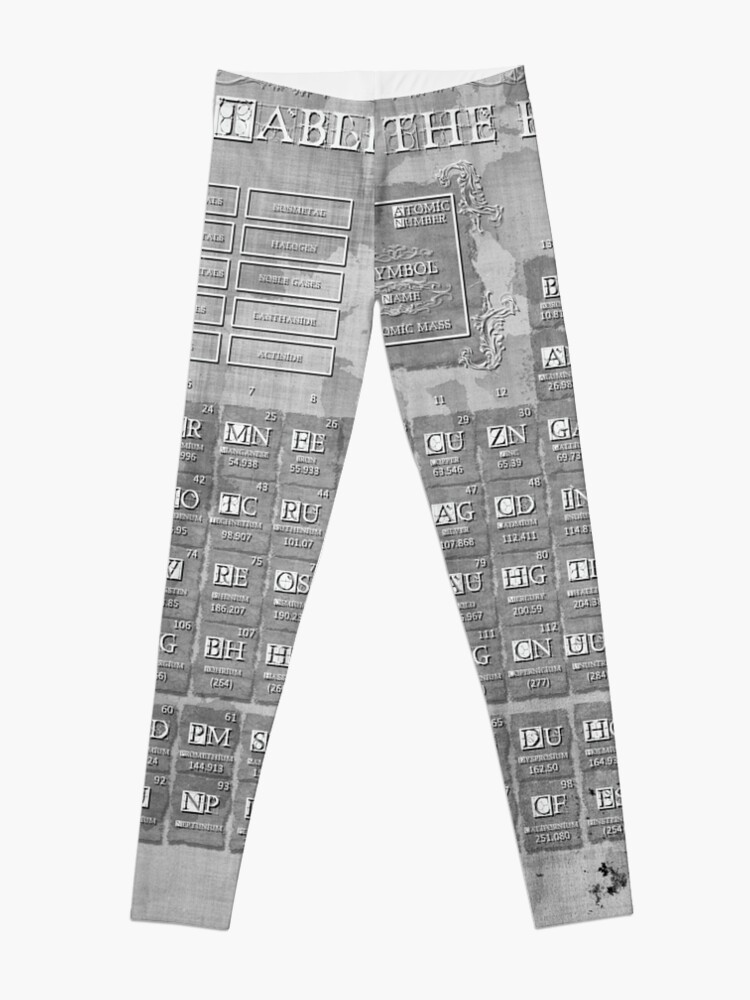 Alternate view of periodic table of the elements 7 Leggings