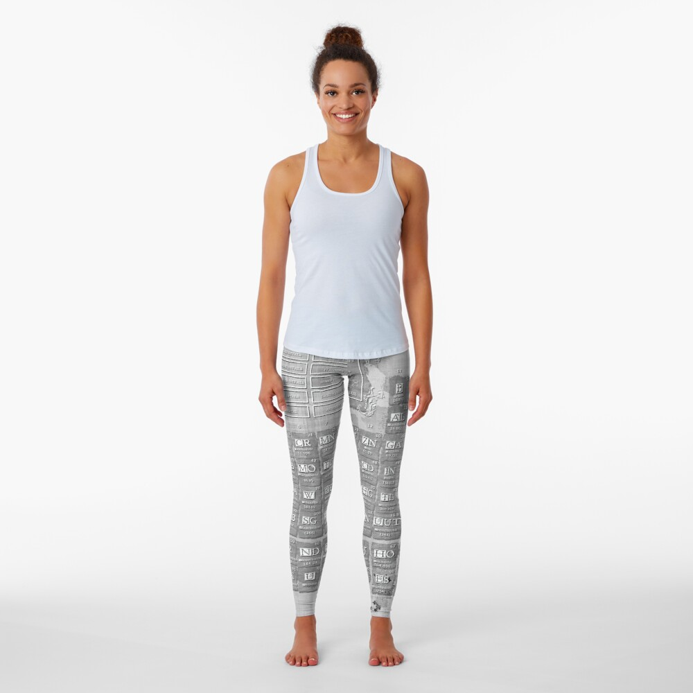 periodic table of the elements 7 Leggings