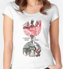 Black and Red London  Women's Fitted Scoop T-Shirt
