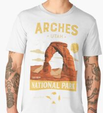 Arches National Park Vintage Utah T Shirt Men's Premium T-Shirt