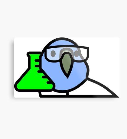 PartyParrot - Science Parrot Metal Print