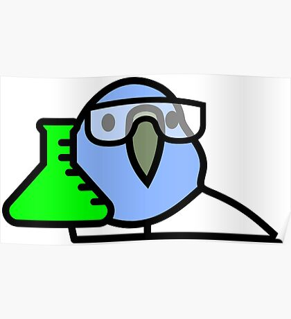 PartyParrot - Science Parrot Poster