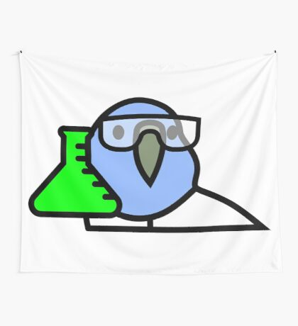 PartyParrot - Science Parrot Wall Tapestry