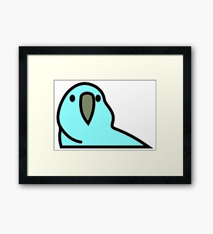 PartyParrot - Light Blue Framed Print