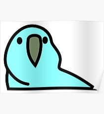 PartyParrot - Light Blue Poster