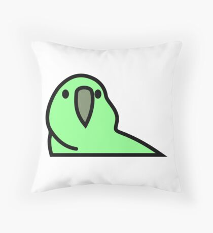 PartyParrot - Green Throw Pillow