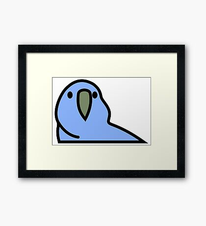PartyParrot - Dark Blue Framed Print