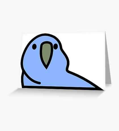 PartyParrot - Dark Blue Greeting Card