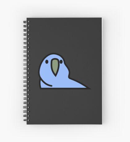 PartyParrot - Dark Blue Spiral Notebook