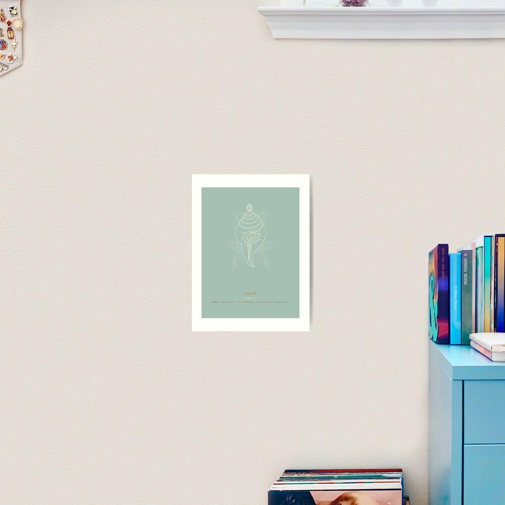Shankha – Right-turning Conch Shell Art Print