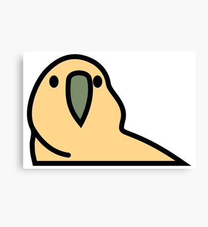PartyParrot - Yellow Canvas Print