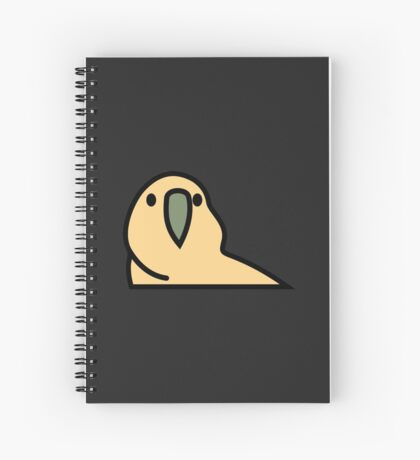 PartyParrot - Yellow Spiral Notebook