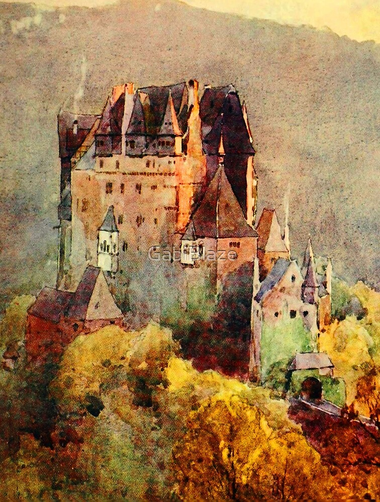 Castle on a Hill Portrait by GabiBlaze