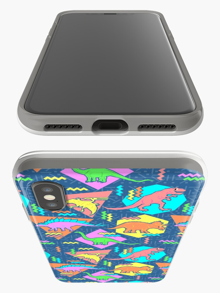Alternate view of Nineties Dinosaurs Pattern iPhone Case & Cover