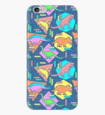 Nineties Dinosaurs Pattern iPhone Case