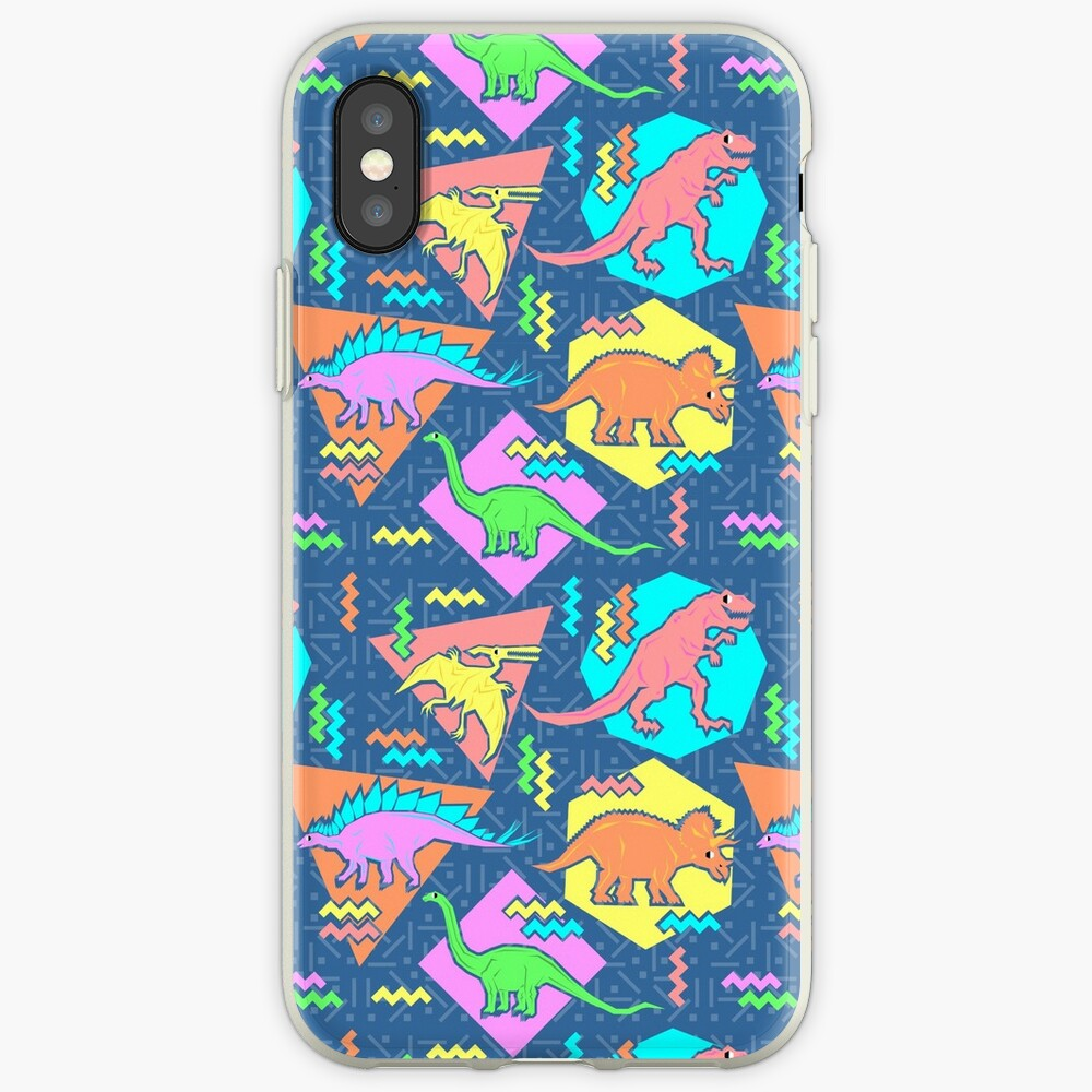 Nineties Dinosaurs Pattern iPhone Case & Cover