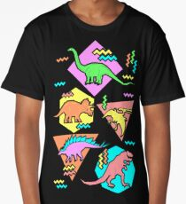 Nineties Dinosaurs Pattern Long T-Shirt