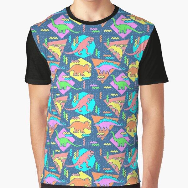 Nineties Dinosaurs Pattern Graphic T-Shirt