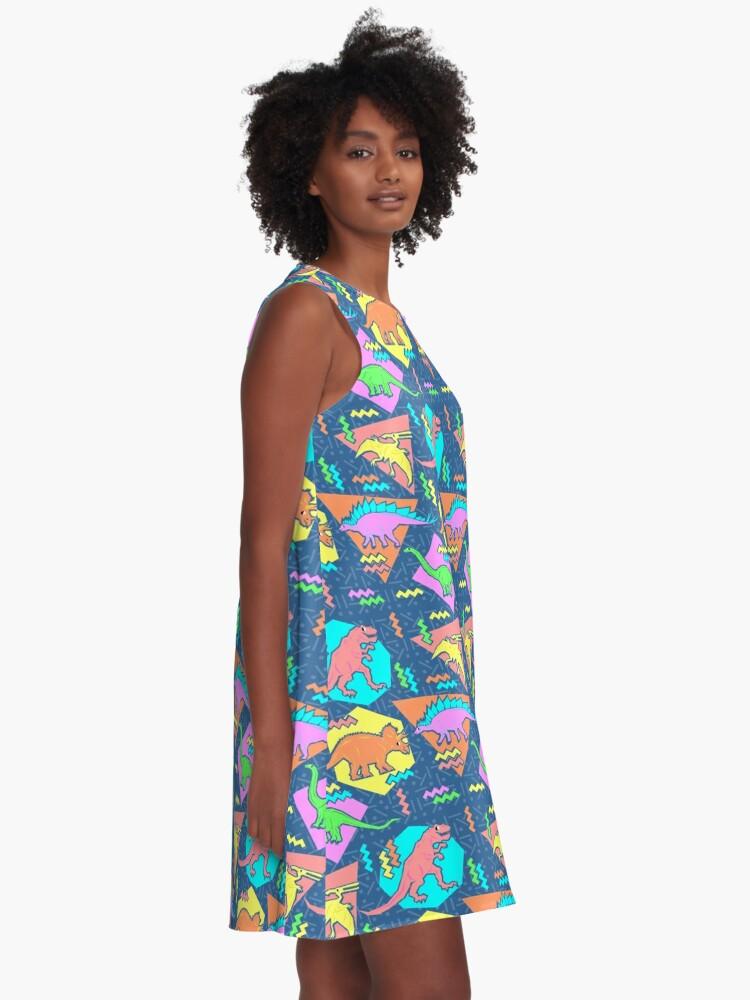 Alternate view of Nineties Dinosaurs Pattern A-Line Dress