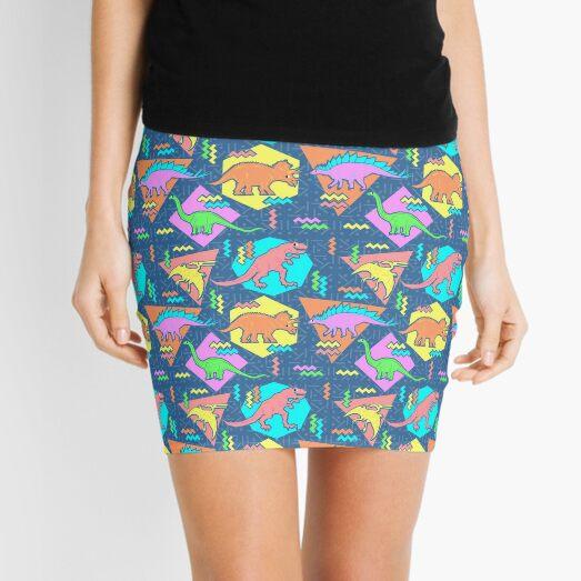 Nineties Dinosaurs Pattern Mini Skirt