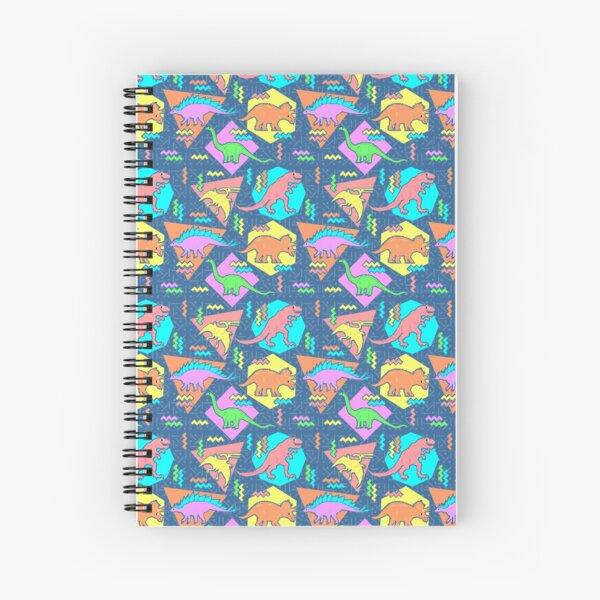 Nineties Dinosaurs Pattern Spiral Notebook