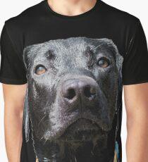 BUDDY -Faithful Black Lab Mix Graphic T-Shirt