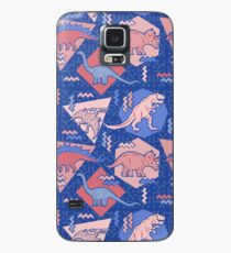 90's Dinosaur Pattern - Rose Quartz and Serenity version Case/Skin for Samsung Galaxy