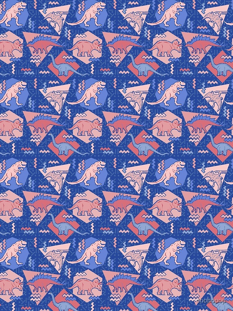 90's Dinosaur Pattern - Rose Quartz and Serenity version by chobopop